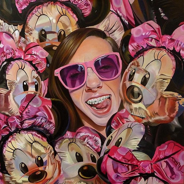 """MINNImal Fun"" by Justyna Kisielewicz | Oil On Linen | 31 ½"" x 31 ½"" | 2014"