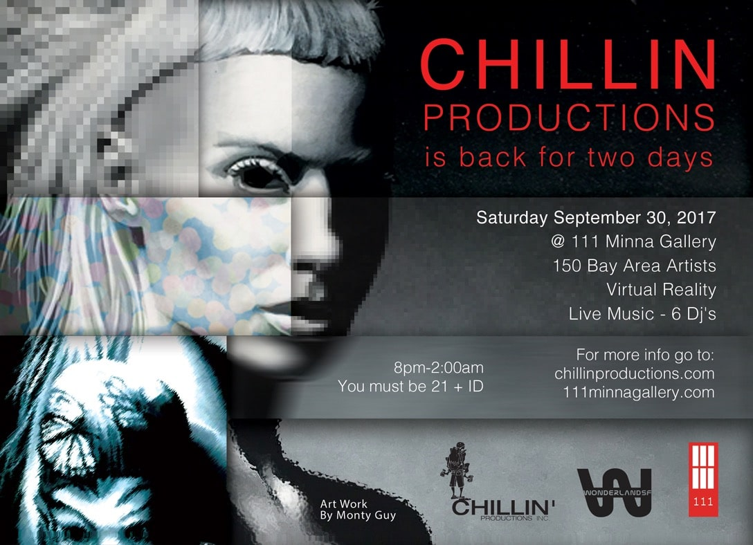 Chillin Productions Flyer September 2017 at 111 Minna Gallery