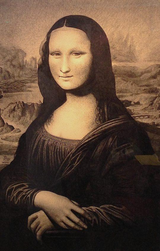 Mona Lisa in Ballpoint Pen