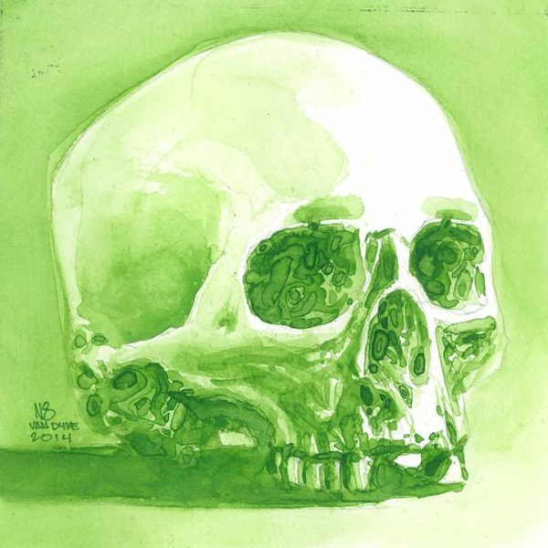 Skull Study (Watercolor)
